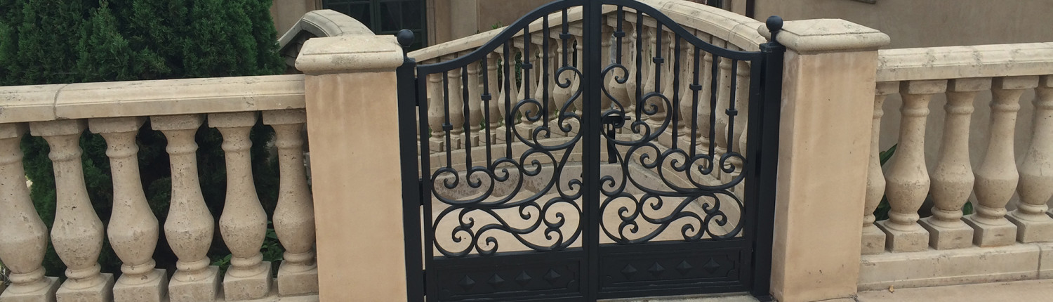 Ornamental Iron Staircase Entry Gate