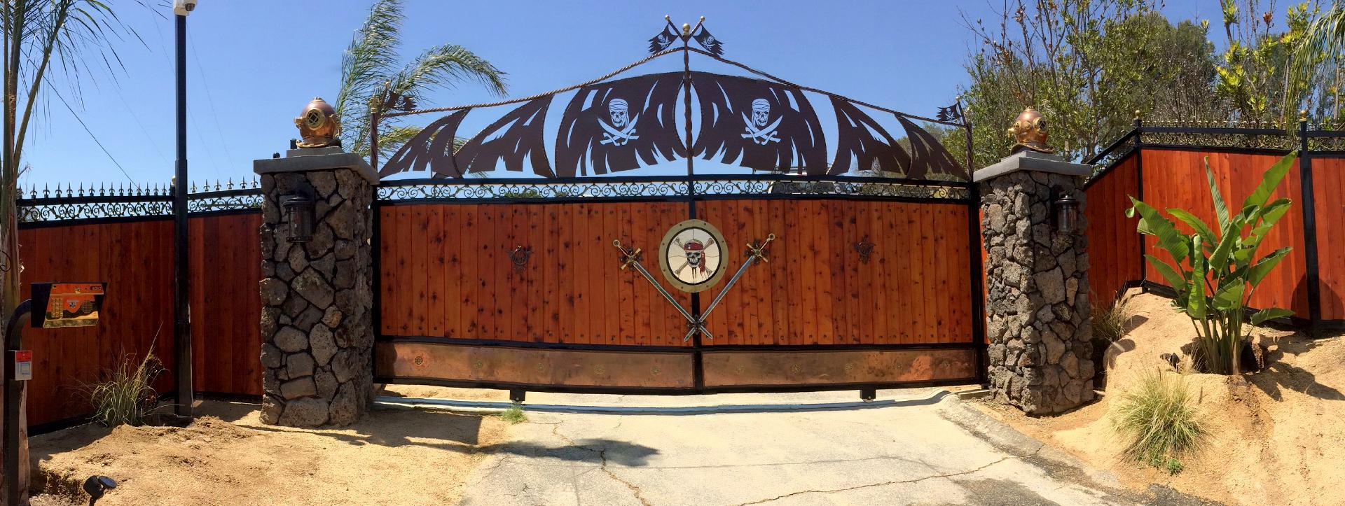 Custom Metal Driveway Gate