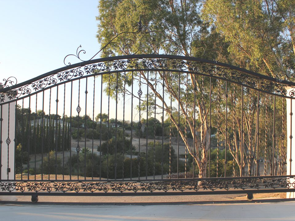 Custom Decorative Iron Driveway Gate